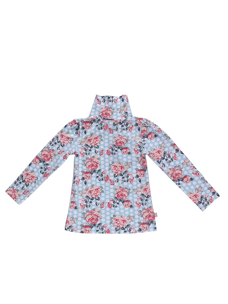 Водолазка для девочки Sweet Berry, цвет: голубой. 205493. Размер 98205493Водолазка для девочки Sweet Berry изготовлена из хлопка с добавлением эластана и оформлена цветочным принтом. Высокий воротник надежно защищает от ветра. Базовая модель позволяет создавать стильные образы.
