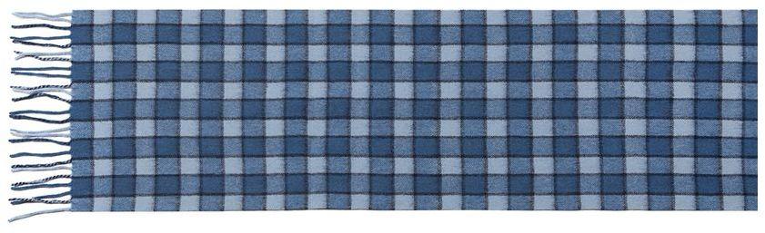 Шарф мужской Labbra, цвет: синий, голубой. LA42-495. Размер 30 см х 164 смLA42-495Мужской шарф Labbra, изготовленный из шерсти с добавлением кашемира, мягкий и приятный на ощупь. Изделие оформлено принтом в клетку. По короткому краю модель оформлена тонкими кисточками, скрученными в жгутики.