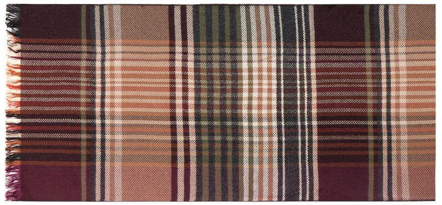 Шарф мужской Labbra, цвет: коричневый, зеленый, фиолетовый. LJG34-350. Размер 30 см х 180 смLJG34-350Мужской шарф Labbra станет стильным аксессуаром, который призван подчеркнуть вашу индивидуальность. Благодаря своему составу, в который входит шелк и вискоза, он очень мягкий, имеет приятную на ощупь текстуру. Изделие оформлено принтом с контрастными полосками и бахромой по краям.Такой шарф отлично дополнит любой образ и подарит вам ощущение комфорта и уюта.