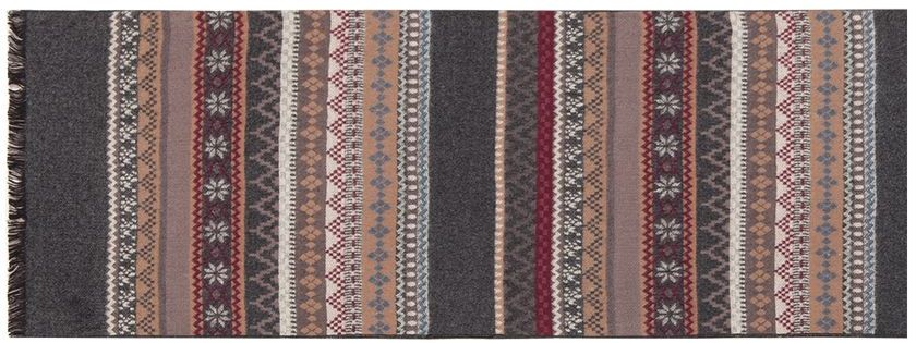 Шарф мужской Labbra, цвет: темно-серый, коричневый, бордовый. LJG34-361. Размер 30 х 180 смLJG34-361Мужской шарф Labbra, изготовленный из шелка и вискозы, мягкий и приятный на ощупь. Изделие оформлено оригинальным принтом. По короткому краю модель оформлена бахромой.