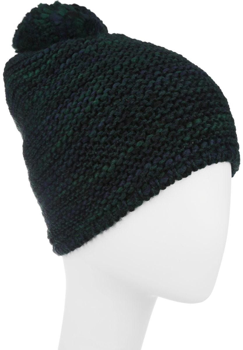 Шапка женская Lee, цвет: зеленый меланж. LW1146PN. Размер универсальныйLW1146PNСтильная шапка Lee идеально подойдет для прогулок в прохладное время года. Шапка крупной вязки изготовлена из мягкой высококачественной пряжи, она обладает хорошими дышащими свойствами и отлично удерживает тепло. Модель дополнена пушистым помпоном и логотипом бренда.Такая шапка станет модным и стильным дополнением вашего зимнего гардероба. Она поднимет вам настроение даже в самые морозные дни!