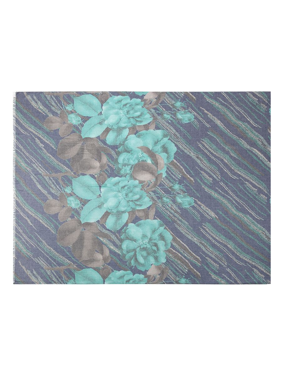 Палантин Labbra, цвет: зеленый, фиолетовый, серый. LFA60-533. Размер 100 см х 180 смLFA60-533Стильный палантин Labbra, изготовленный из шерсти и сои, мягкий и приятный на ощупь.Изделие оформлено цветочным принтом. По короткому краю модель оформлена бахромой.