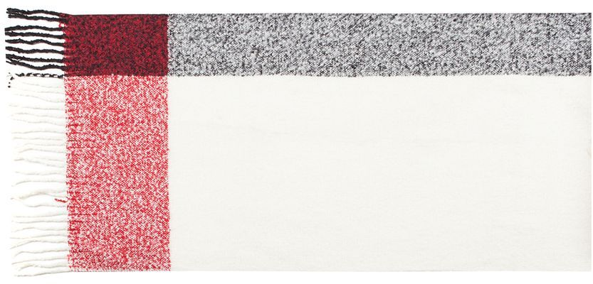 Палантин Labbra, цвет: белый, красный, черный. LG52-570. Размер 65 см х 180 смLG52-570Теплый палантин Labbra, изготовленный из шерсти и мохера, мягкий и приятный на ощупь.Изделие оформлено оригинальным принтом. По всем краям модель оформлена бахромой.