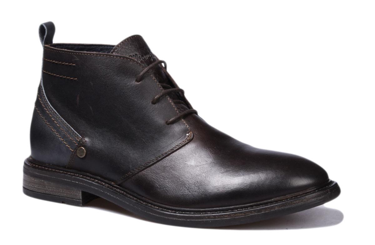 Ботинки мужские Wrangler Roll Desert Leather, цвет: темно-коричневый. WM162051-30. Размер 45WM162051-30Стильные мужские ботинки Roll Desert Leather от Wrangler выполнены из натуральной кожи. Подкладка и стелька из текстиля комфортны при движении. Шнуровка надежно зафиксирует модель на ноге. Подошва дополнена рифлением.