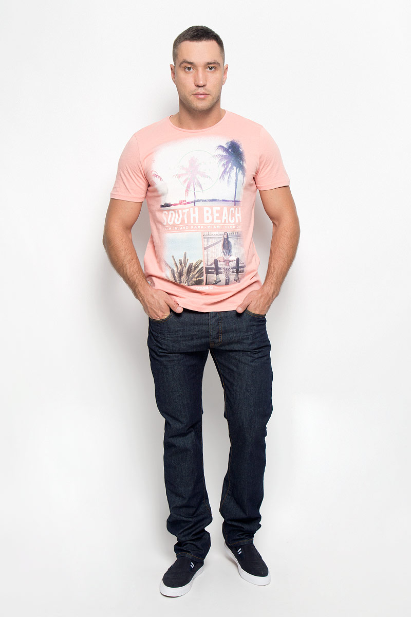 Джинсы мужские Baon, цвет: черно-синий. B806511_DARK NAVY DENIM. Размер 34 (52)B806511_DARK NAVY DENIMСтильные мужские джинсы Baon - джинсы высочайшего качества на каждый день, которые прекрасно сидят. Модель прямого кроя и средней посадки изготовлена из плотного хлопкового материала. Застегиваются джинсы на пуговицы, имеются шлевки для ремня. Спереди модель оформлены двумя втачными карманами и одним небольшим секретным кармашком, а сзади - двумя накладными карманами.Эти модные и в тоже время комфортные джинсы послужат отличным дополнением к вашему гардеробу. В них вы всегда будете чувствовать себя уютно и комфортно.