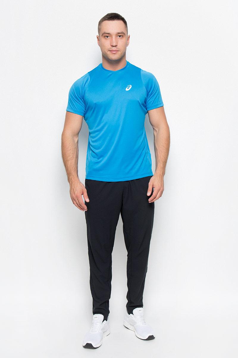 Футболка для тенниса мужская Asics Club Ss Top, цвет: голубой. 130234-8094. Размер XXL (54/56)130234-8094Стильная мужская футболка для тенниса Asics Club SS Top, выполненная из эластичного полиэстера, обладает высокой теплопроводностью, воздухопроницаемостью и гигроскопичностью и великолепно отводит влагу, оставляя тело сухим даже во время интенсивных тренировок. Такая футболка превосходно подойдет для занятий спортом и активного отдыха.Модель с короткими рукавами реглан и круглым вырезом горловины - идеальный вариант для занятий спортом. Рукава реглан обеспечат свободу движений, а специальная сетчатая вставка на спинке - необходимую циркуляцию воздуха. Футболка дополнена светоотражающим логотипом бренда. Такая модель подарит вам комфорт в течение всего дня и послужит замечательным дополнением к вашему гардеробу.