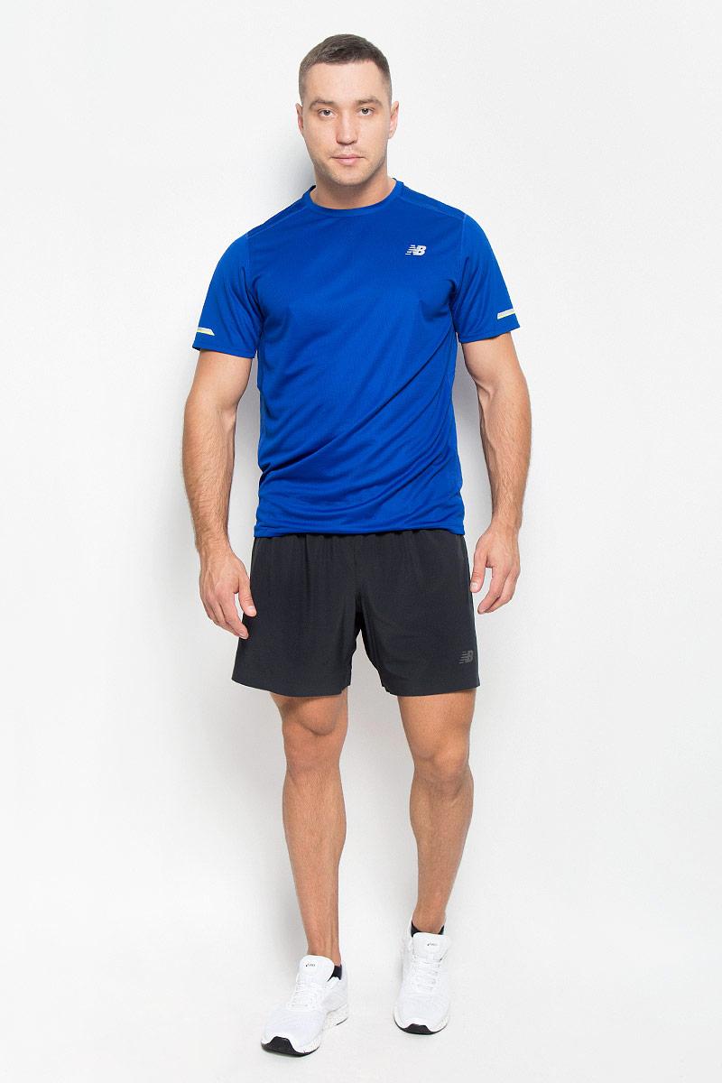 Шорты для фитнеса мужские New Balance, цвет: черный. MS53053/BK. Размер XL (50/52)MS53053/BKЭти универсальные шорты New Balance вобрали в себя все последние технологии: они дарят неограниченную свободу движений и легкую мышечную поддержку. Они выполнены из 100% полиэстера, удобно сидят и превосходно отводят влагу от тела, оставляя кожу сухой.Модель оснащена широкой эластичной резинкой на поясе. Шорты сбоку дополнены кармашком на застежке-молнии и перфорацией для лучшей воздухопроницаемости. На передней части предусмотрен светоотражающий логотип .Эти стильные шорты идеально подойдут для фитнеса и других спортивных упражнений. В них вы всегда будете чувствовать себя уверенно и комфортно.