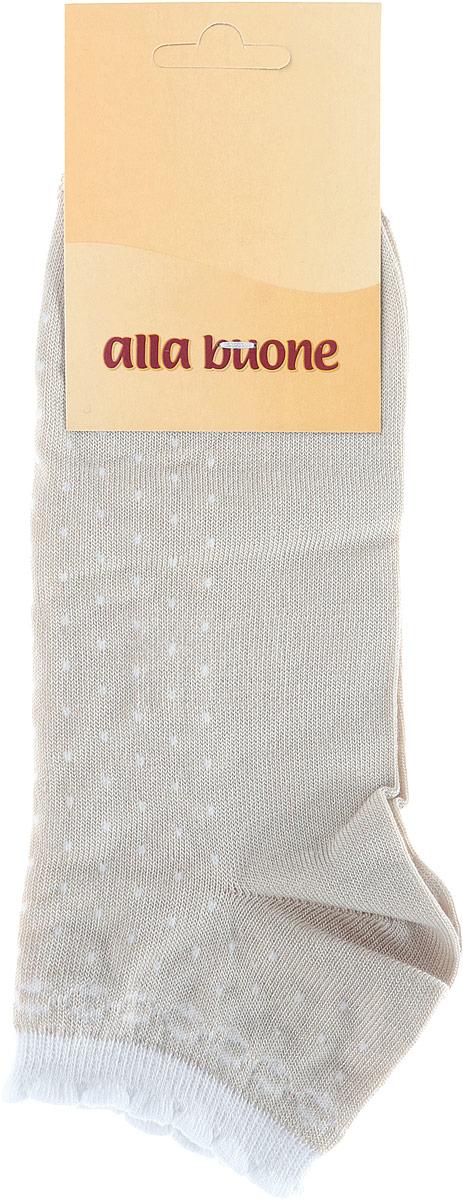 Носки женские Alla Buone, цвет: бежевый. 016CD. Размер 23 (35/37)016CDУдобные носки Alla Buone, изготовленные из высококачественного бамбукового волокна, очень мягкие и приятные на ощупь, позволяют коже дышать.Эластичная резинка плотно облегает ногу, не сдавливая ее, обеспечивая комфорт и удобство. Носки с укороченным паголенком оформлены узором.Практичные и комфортные носки великолепно подойдут к любой вашей обуви.