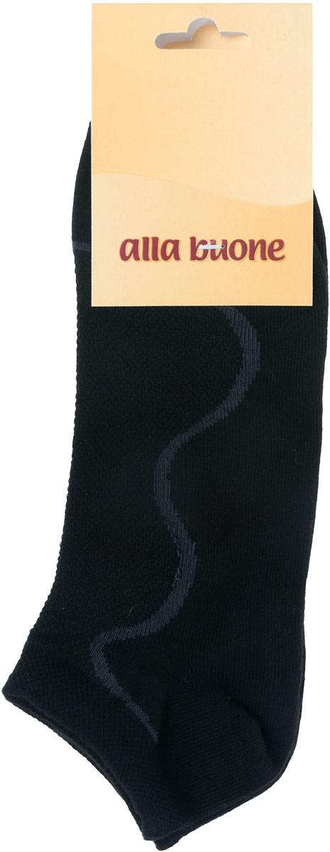Носки женские Alla Buone, цвет: черный. CD035. Размер 23 (35-37)035CDУдобные носки Alla Buone, изготовленные из высококачественного комбинированного материала, очень мягкие и приятные на ощупь, позволяют коже дышать. Эластичная резинка плотно облегает ногу, не сдавливая ее, обеспечивая комфорт и удобство. Носки с контрастным узором с укороченным паголенком. Практичные и комфортные носки великолепно подойдут к любой вашей обуви.