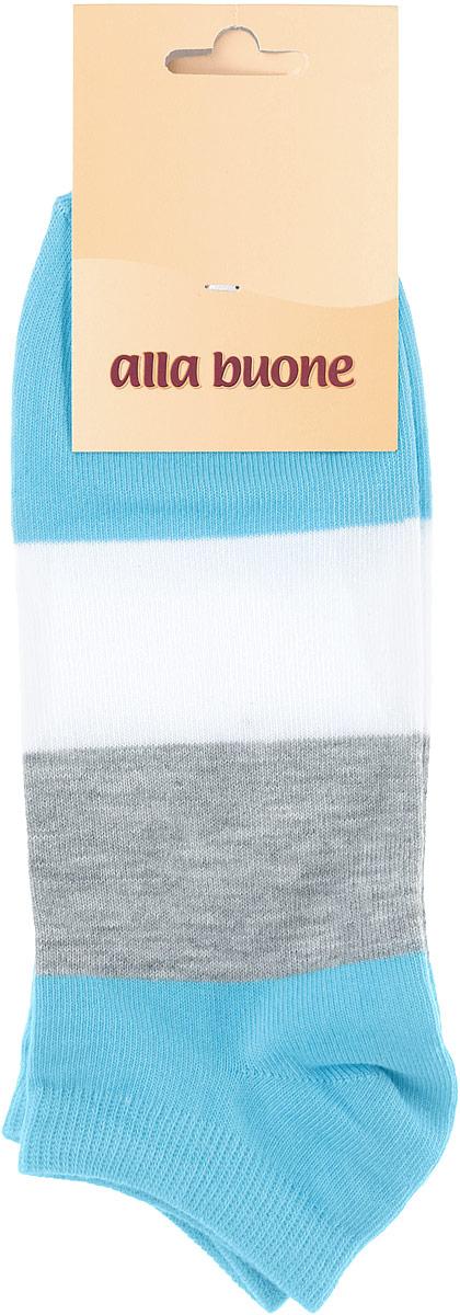 Носки женские Alla Buone, цвет: голубой, серый, белый. CD033. Размер 25 (38-40)033CDУдобные носки Alla Buone, изготовленные из высококачественного комбинированного материала, очень мягкие и приятные на ощупь, позволяют коже дышать. Эластичная резинка плотно облегает ногу, не сдавливая ее, обеспечивая комфорт и удобство. Носки с укороченным паголенком оформлены широкими контрастными полосками. Практичные и комфортные носки великолепно подойдут к любой вашей обуви.