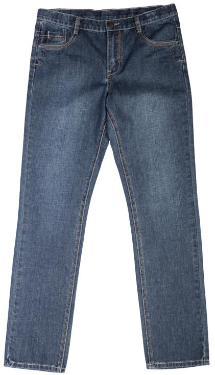 Джинсы для мальчика Scool, цвет: синий деним. 363079. Размер 146363079Стильные джинсы для мальчика выполнены из натурального хлопка с эффектом потертости и контрастной бежевой прострочкой. Джинсы прямого кроя и стандартной посадки на талии застегиваются на пуговицу и имеют ширинку на застежке-молнии. Модель представляет собой классическую пятикарманку: два втачных и один маленький накладной кармашек спереди и два накладных кармана сзади. Задние карманы закрываются клапанами на пуговицах. На поясе имеются шлевки для ремня.