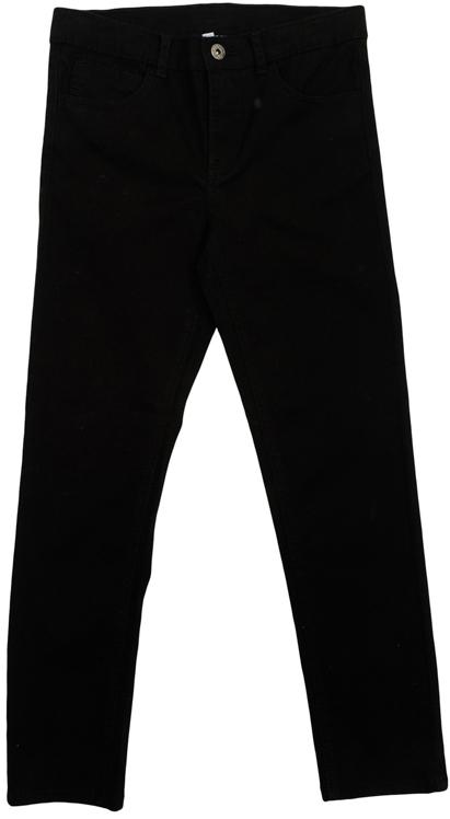 Брюки для мальчика Scool, цвет: черный. 363127. Размер 164363127Стильные твиловые брюки для мальчика. Брюки прямого кроя и стандартной посадки на талии застегиваются на пуговицу и имеют ширинку на застежке-молнии. Модель представляет собой классическую пятикарманку: два втачных и один маленький накладной кармашек спереди и два прорезных кармана сзади. На поясе имеются шлевки для ремня.