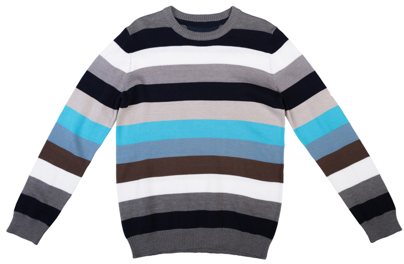 Джемпер для мальчика Scool, цвет: голубой, серый, белый, бежевый. 363073. Размер 152363073Уютный джемпер для мальчика изготовлен из вязаного эластичного трикотажа. Воротник, манжеты и низ изделия связаны мягкой резинкой. Джемпер оформлен полосками разных цветов, что позволяет стильно сочетать его с любой одеждой.