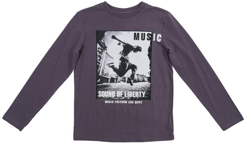 Лонгслив для мальчика Scool, цвет: серый. 363134. Размер 152363134Уютная футболка с длинными рукавами и эластичной бейкой на воротнике. Универсальный цвет позволяет сочетать ее с любой одеждой. Футболка оформлена стильным фотопринтом.
