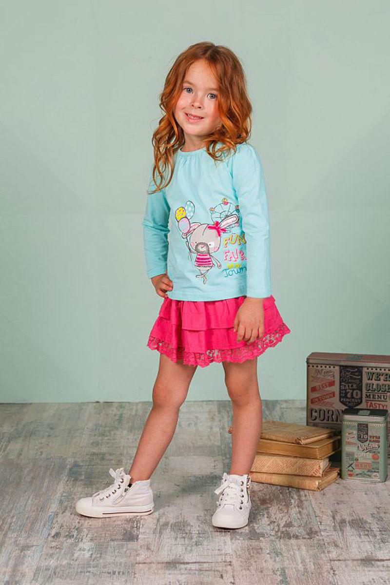 Юбка для девочки Sweet Berry, цвет: фуксия. 205259. Размер 98205259Оригинальная юбка для девочки выполнена из высококачественного материала. Низ модели дополнен кружевной вставкой.. Пояс на мягкой резинке.