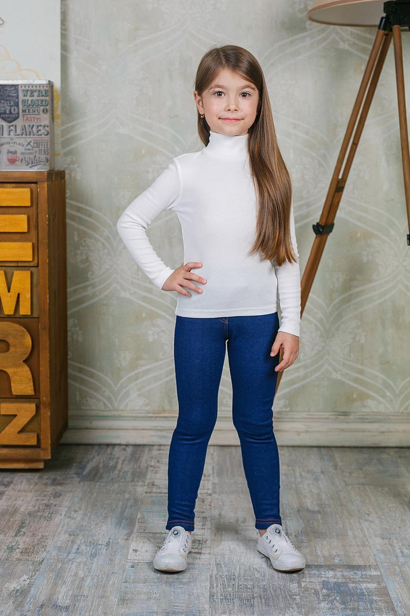 Водолазка для девочки Sweet Berry, цвет: молочный. 205520. Размер 104205520Водолазка для девочки Sweet Berry изготовлена из хлопка с добавлением эластана. Высокий воротник надежно защищает от ветра. Базовая модель позволяет создавать стильные образы.