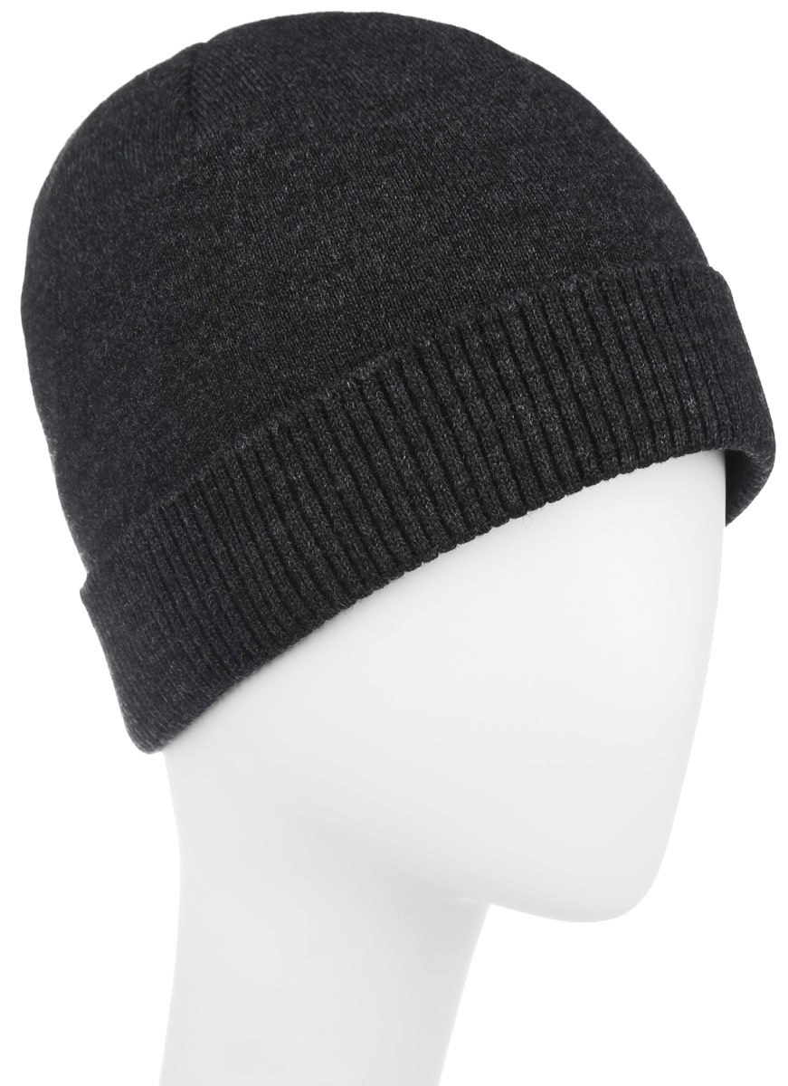 Шапка мужская Leighton, цвет: темно-серый. 5-084. Размер 59/605-084Стильная мужская шапка Leighton отлично дополнит ваш образ в холодную погоду и гарантирует вам тепло и потрясающий комфорт.Сочетание шерсти и акрила максимально сохраняет тепло и обеспечивает удобную посадку. Шапка с флисовой подкладкой по краю дополнена отворотом, связанным резинкой.Такая шапка комфортна и приятна на ощупь, она великолепно подчеркнет ваш стиль.