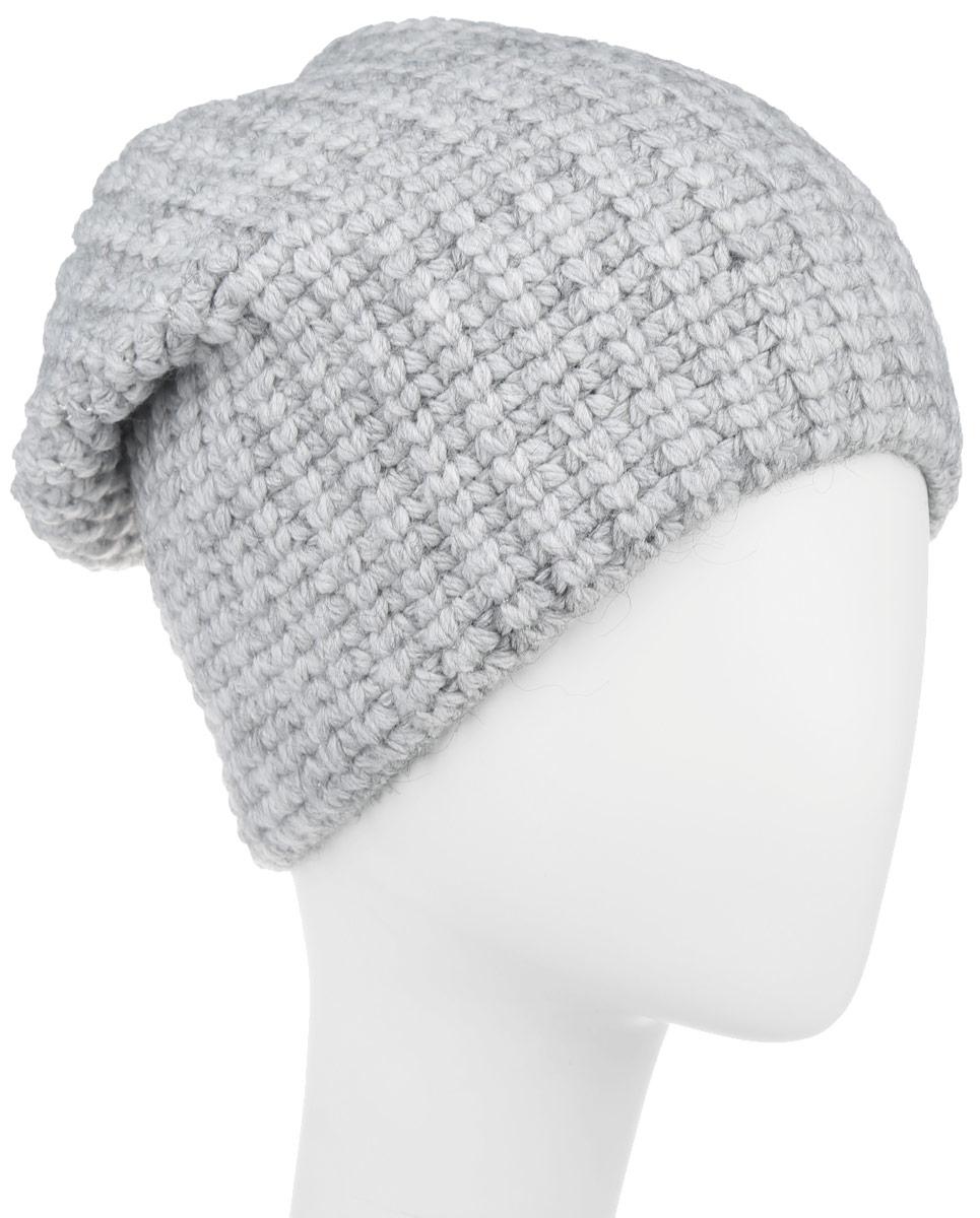 Шапка женская Baon, цвет: серый. B346531. Размер универсальныйB346531Женская шапка Baon отлично дополнит ваш образ в холодную погоду. Сочетаниеакрила с добавлением полиамида и эластана максимально сохраняет тепло и обеспечивает удобную посадку, невероятную легкость и мягкость. Оформлено изделие небольшой металлической пластиной . Стильная шапка Baon подчеркнет ваш неповторимый стиль и индивидуальность. Такая модель составит идеальный комплект с модной верхней одеждой, в ней вам будет уютно и тепло.