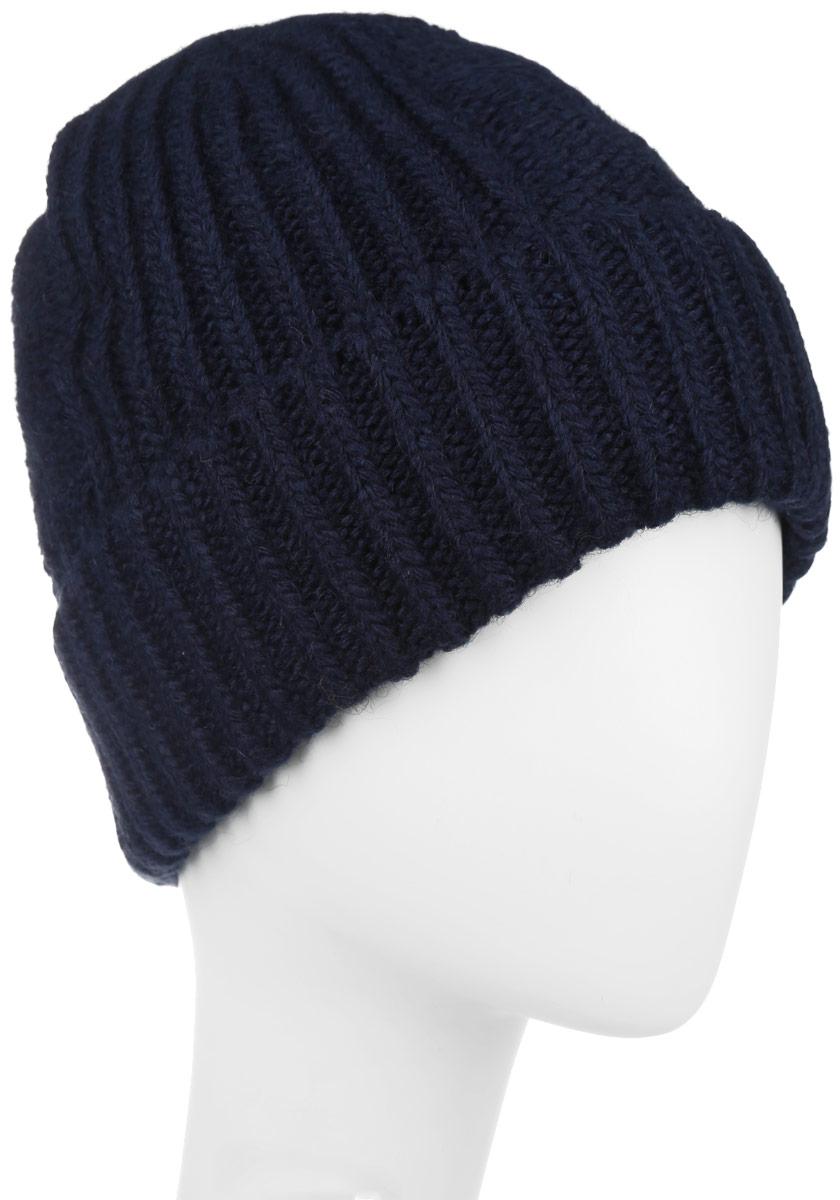 Шапка мужская Baon, цвет: темно-синий. B846512. Размер универсальныйB846512Классическая мужская шапка Baon отлично дополнит ваш образ в холодную погоду. Сочетание акрила с добавлением полиамида и эластана максимально сохраняет тепло и обеспечивает удобную посадку, невероятную легкость и мягкость. Внутренняя сторона шапки утеплена мягким флисом. Оформлено изделие небольшой металлической пластиной с названием бренда. Стильная шапка Baon подчеркнет ваш неповторимый стиль и индивидуальность. Такая модель составит идеальный комплект с модной верхней одеждой, в ней вам будет уютно и тепло.