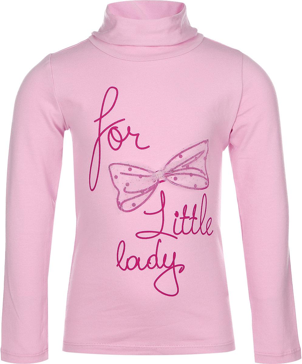 Водолазка для девочки Sela, цвет: светло-розовый. Tt-511/225-6372. Размер 98, 3 годаTt-511/225-6372Оригинальная водолазка для девочки Sela идеально подойдет вашей маленькой принцессе. Изготовленная из эластичного хлопка, она необычайно мягкая и приятная на ощупь, не сковывает движения малышки и позволяет коже дышать, не раздражает даже самую нежную и чувствительную кожу ребенка, обеспечивая ему наибольший комфорт. Нарядная водолазка с длинными рукавами и воротником-гольфом на груди дополнена интересным принтом в виде бантика и надписями. Оригинальный современный дизайн и модная расцветка делают эту водолазку модным и стильным предметом детского гардероба. В ней ваша малышка будет чувствовать себя уютно и комфортно, и всегда будет в центре внимания!