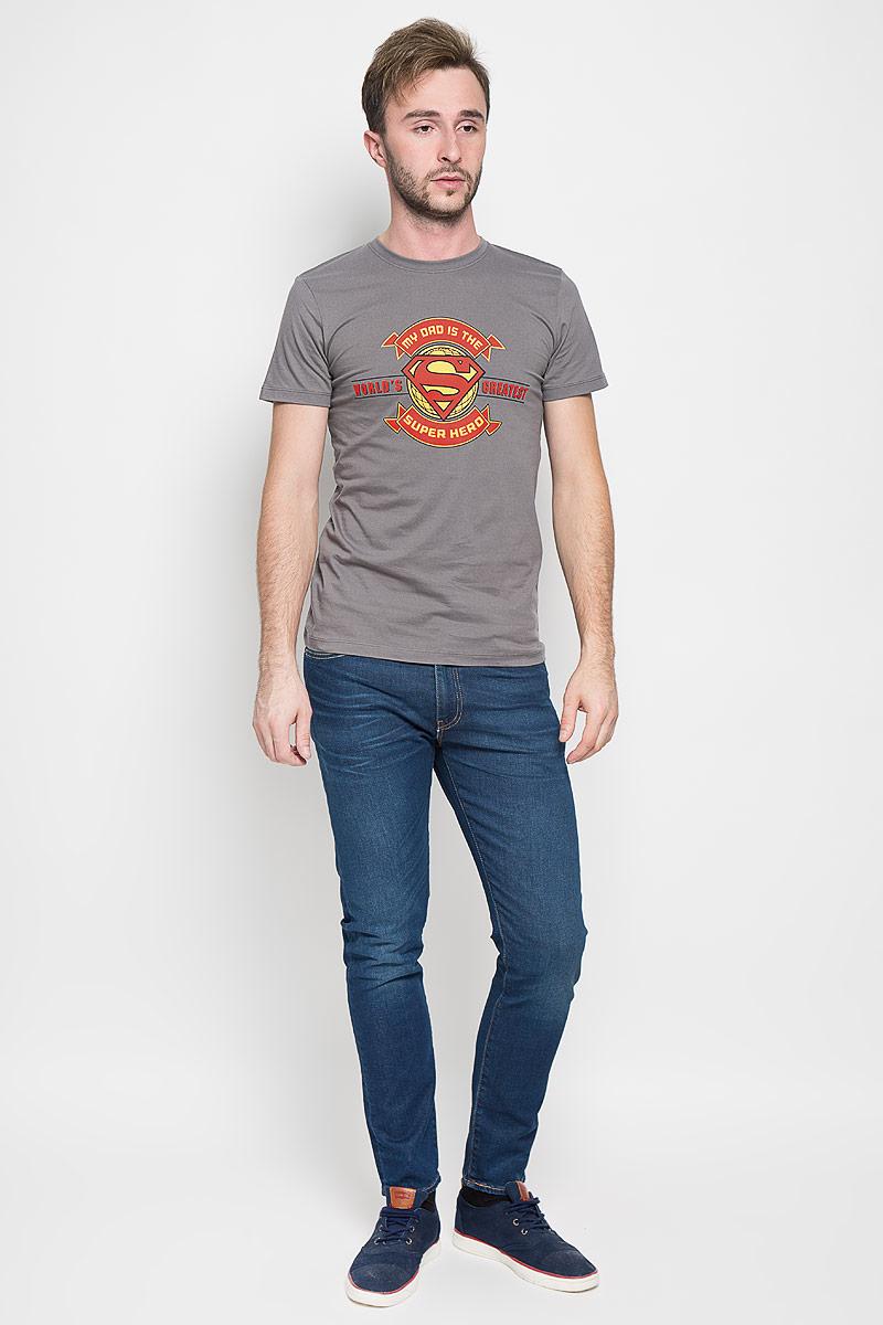 Футболка мужская RHS Superman, цвет: серый. 44691. Размер L (50)44691Оригинальная мужская футболка RHS Superman, выполненная из высококачественного хлопка, обладает высокой теплопроводностью, воздухопроницаемостью и гигроскопичностью, позволяет коже дышать. Модель с короткими рукавами и круглым вырезом горловины, оформлена крупным принтом спереди на тематику известного комикса Superman. Горловина дополнена эластичной трикотажной резинкой.Идеальный вариант для тех, кто ценит комфорт и качество.