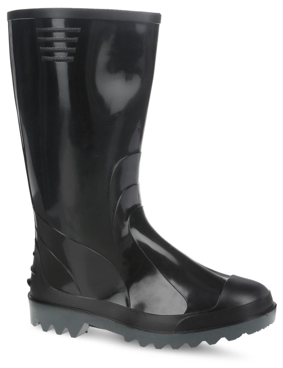 Сапоги резиновые мужские Дюна, цвет: черный. 170/У/(НТП). Размер 40170/У/(НТП)Стильные мужские резиновые сапоги Дюна - идеальная обувь в дождливую погоду. Сапоги полностью выполнены из ПВХ (поливинилхлорид). Модель оснащена съемным текстильным носком, который не даст ногам замерзнуть. Подошва с агрессивным протектором обеспечивает сцепление с любой поверхностью. В таких резиновых сапогах вашим ногам будет комфортно и уютно.