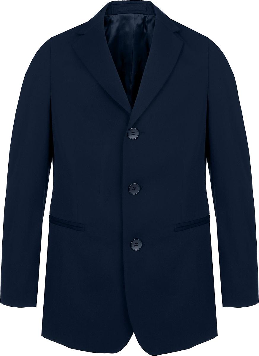 Пиджак для мальчика BTC, цвет: темно-синий. 12.017933. Размер 38-15812.017933Стильный пиджак для мальчика BTC станет отличным дополнением к школьному гардеробу в прохладные дни. Изготовленный из высококачественного материала, он необычайно мягкий и приятный на ощупь, не сковывает движения и позволяет коже дышать, не раздражает нежную кожу ребенка, обеспечивая ему наибольший комфорт. Модель дополнена подкладкой из вискозы с добавлением полиэстера.Пиджак с воротничком с лацканами застегивается на пластиковые пуговицы и дополнен скрытыми плечиками. Спереди пиджак дополнен двумя прорезными карманами. Внутри расположен небольшой втачной карман. Спинка дополнена двумя шлицами. В таком пиджачке ваш маленький мужчина будет чувствовать себя комфортно, уютно и всегда будет в центре внимания!