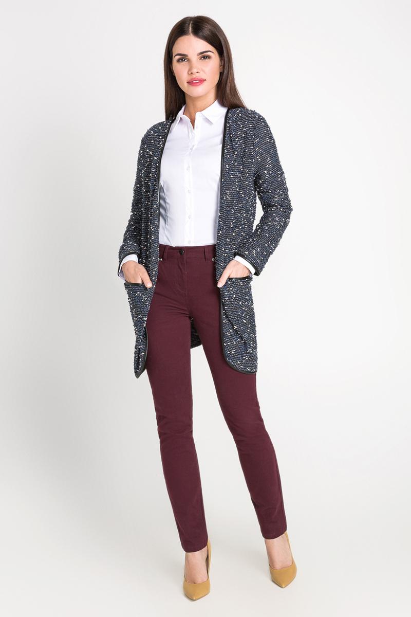Рубашка женская Bestia Tiva2_b, цвет: белый. 40200260081_200. Размер S (44)40200260081_200Классическая рубашка выполнена из хлопковой эластичной ткани. Модель приталенного кроя с отложным воротником и длинными стандартными рукавами.