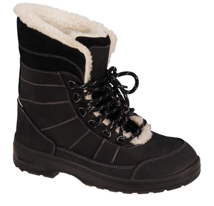 Ботинки детские Kuoma Alaska, цвет: черные. 1936_03. Размер 401936_03Ботинки выполнены из грязе-водоотталкивающего текстиля. Шнуровка надежно зафиксирует модель на ноге. С внутренней стороны они утеплены шерстью, стелька выполнена из искусственного меха.