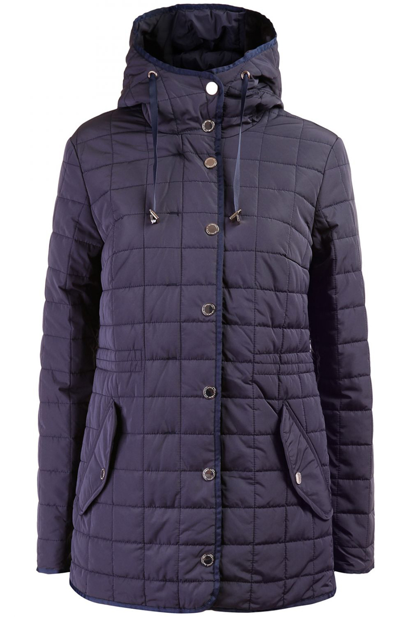 Куртка женская Baon, цвет: темно-синий. B036637_DARK NAVY. Размер 56B036637_DARK NAVYМужская куртка Baon выполнена из 100% полиамида. В качестве подкладки и наполнителя используется полиэстер. Модель с воротником-капюшоном и длинными рукавами застегивается на застежку-молнию, а сверху дополнена защитной планкой на металлических кнопках. Капюшон имеет дополнительные утягивающие шнурочки. Перед куртки оформлен двумя втачными карманами с клапанами на кнопках. Внутренняя сторона изделия дополнена в поясе резинкой со стопперами. Все края модели выполнены стильной окантовкой.