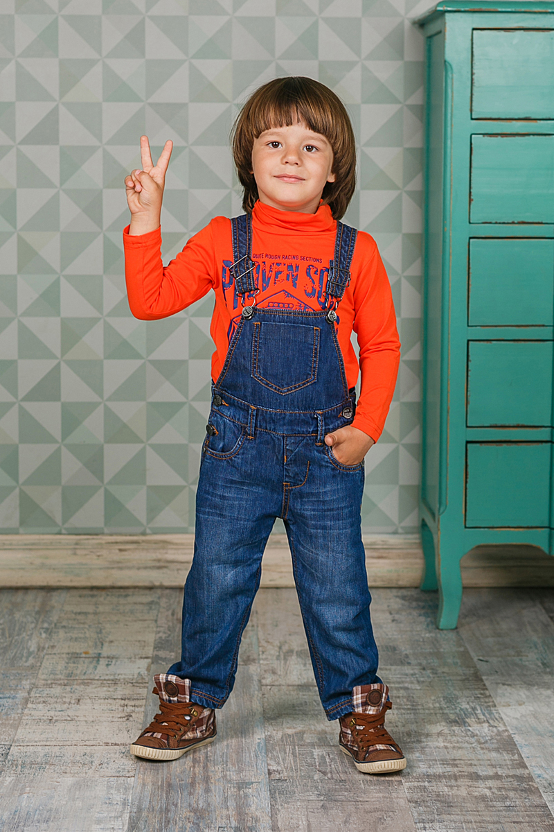 Водолазка для мальчика Sweet Berry, цвет: оранжевый. 206127. Размер 86206127Мягкая водолазка для мальчика изготовлена из трикотажного материала и оформлена оригинальным принтом. Модель с высоким воротником и длинными рукавами.