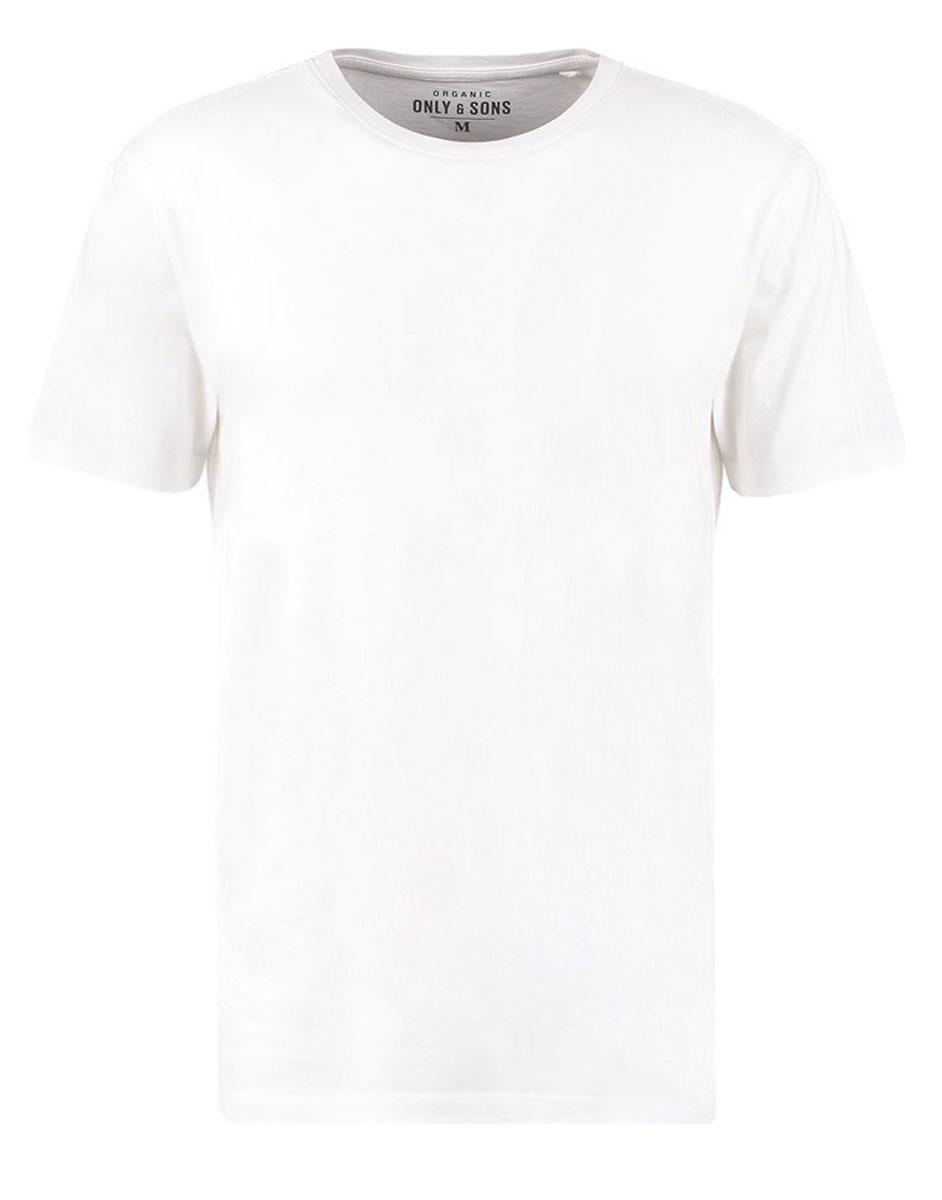 Футболка мужская Only & Sons, цвет: белый. 22003963. Размер S (44)22003963_WhiteОригинальная мужская футболка Only & Sons, выполненная из высококачественного хлопка, обладает высокой теплопроводностью, воздухопроницаемостью и гигроскопичностью, позволяет коже дышать. Модель с короткими рукавами и круглым вырезом горловины, оформлена в лаконичном стиле. Горловина дополнена эластичной трикотажной резинкой. Идеальный вариант для тех, кто ценит комфорт и качество.