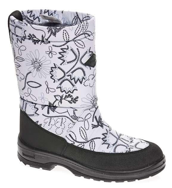 Сапоги для девочки Kuoma Lady, цвет: молочный, черный. 1403_1375. Размер 361403_1375Детские сапоги выполнены из грязе-водоотталкивающего текстиля. Внутренняя поверхность и стелька из шерсти и искусственного меха не дадут замерзнуть ногам в холодную погоду. Резиновая подошва создаст дополнительный комфорт, не позволяя ноге скользить.