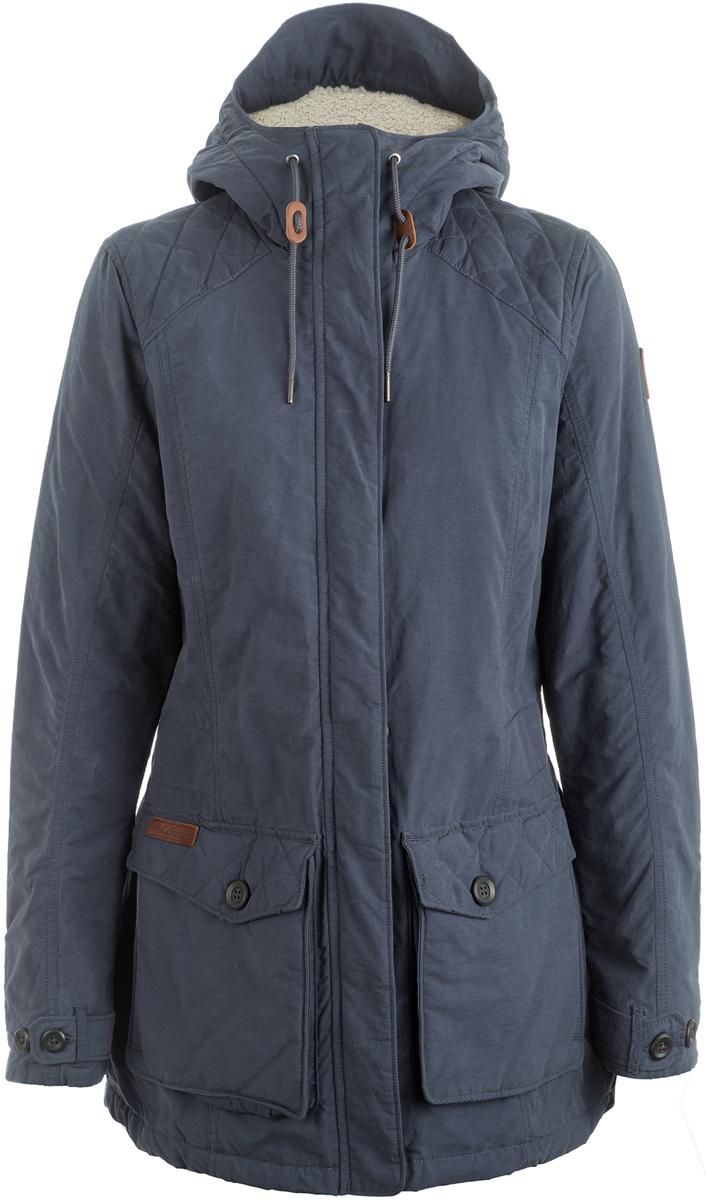 Куртка женская Columbia Prima Element, цвет: синий. 1685461-419. Размер XL (50)1685461-419Женская куртка-парка - стильный вариант для города в прохладную погоду. Ткань с водоотталкивающей пропиткой защищает от легкого дождя и снега. Флисовая подстежка. Регулируемый капюшон, утяжки на талии, регулируемые манжеты - все это обеспечивает максимальный комфорт при носке и придает изделию модный, женственный силуэт.
