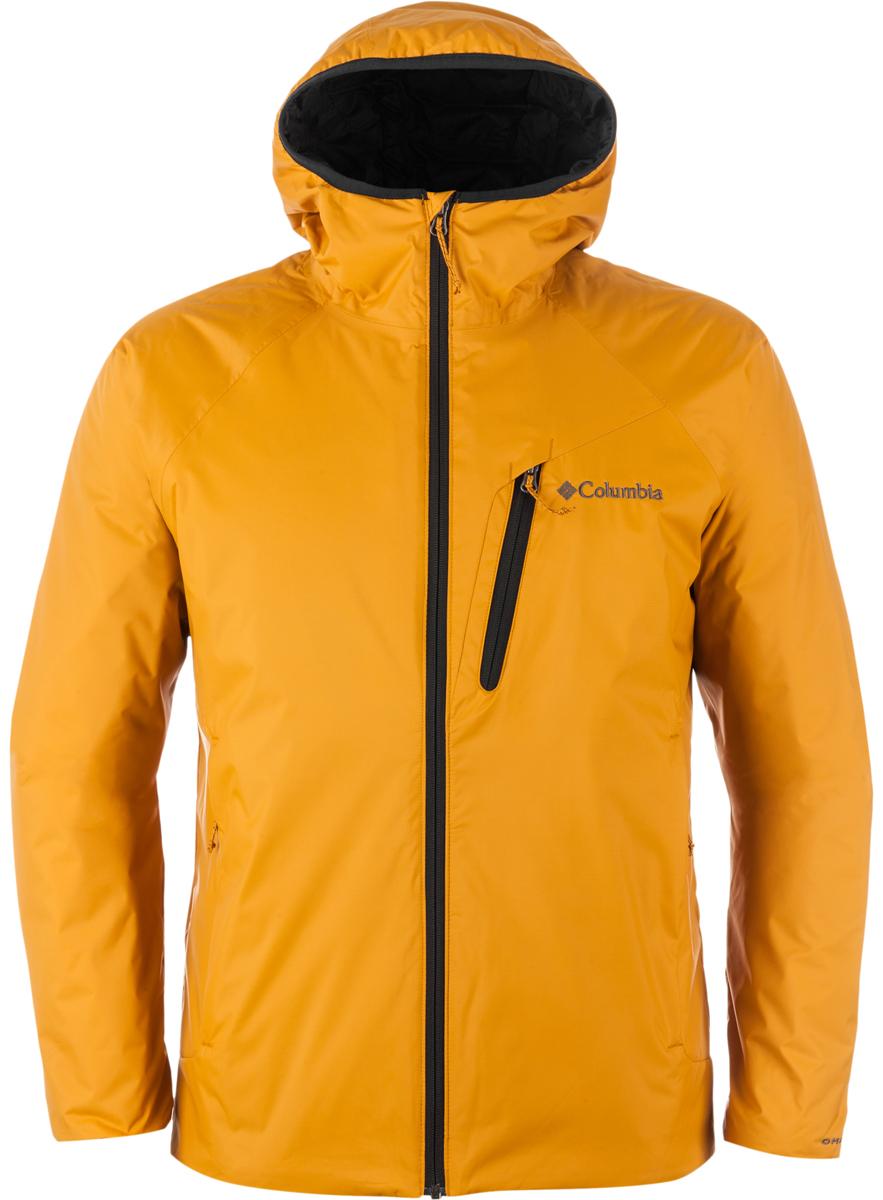 Куртка мужская Columbia Redrock Falls Jacket, цвет: желтый. 1621721-702. Размер XL (52/54)1621721-702Мужская утепленная куртка для активного отдыха и горного туризма. Верхняя ткань изделия содержит мембрану Omni-Tech. Наличие мембраны в изделии дает дополнительное преимущество - защита от ветра. Утеплитель и подкладка Omni-Heat обеспечивают уникальную температурную регуляцию при максимальной легкости изделия. Швы частично проклеены, капюшон, регулируемый низ изделия, карманы на молнии обеспечивают дополнительный комфорт. Рекомендуемый температурный режим для данной модели до -5° С , исходя из расчета на среднюю физическую активность - ходьбу 4 км/ч.
