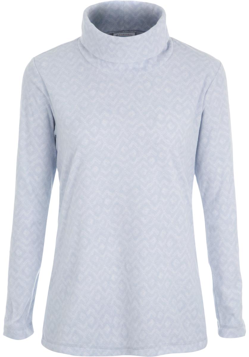 Водолазка женская Columbia Glacial, цвет: серый. 1556641-031. Размер XS (42)1556641-031Стильная и легкая флисовая водолазка, которая станет незаменимой вещью в походе.Флис - это очень удачный материал для одежды, которая направлена на удержание тепла, ведь ткань даже в мокром состоянии сохраняет свои теплоизоляционные свойства. Ткань тянется, быстро сохнет и максимально быстро выводит влагу.