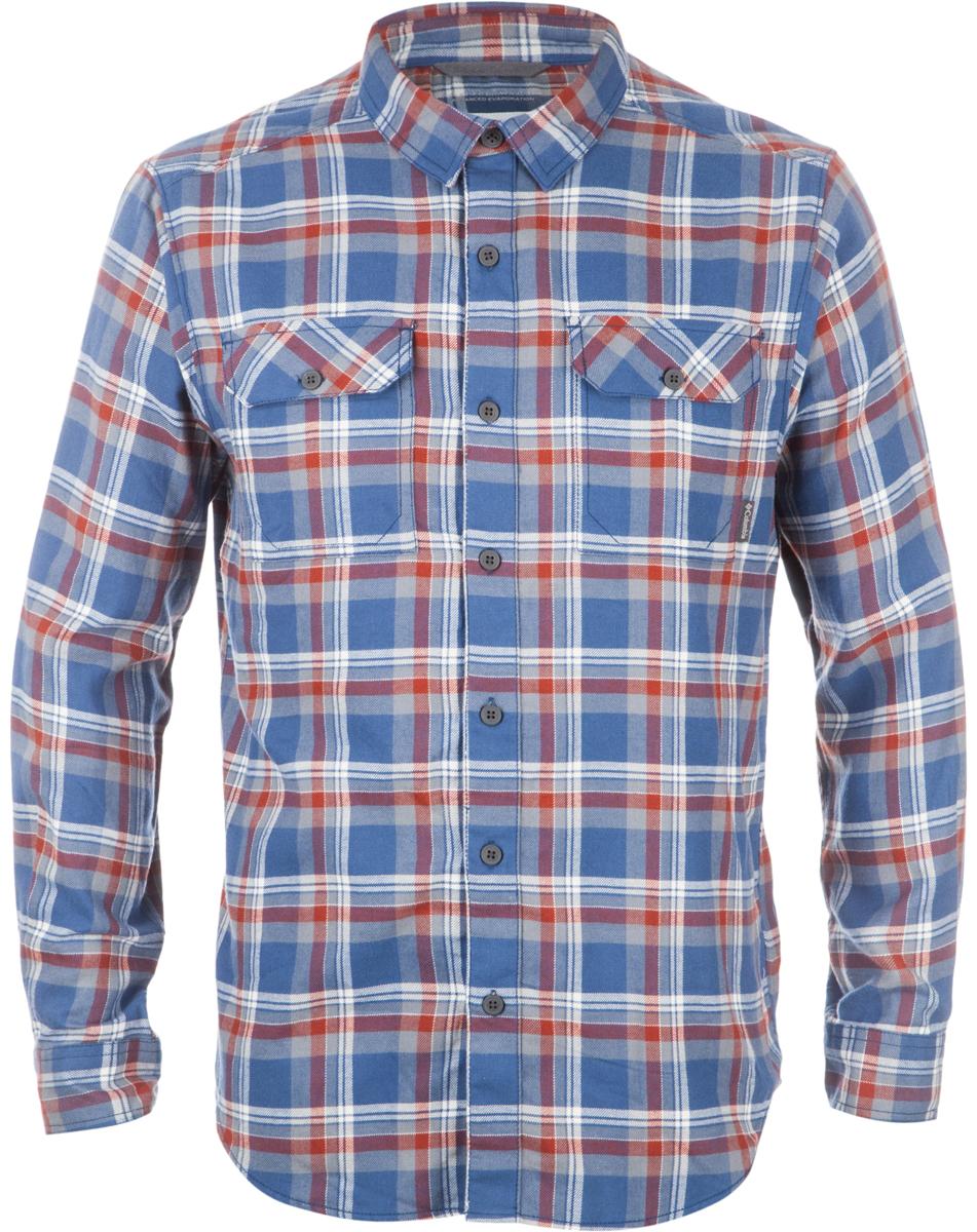 Рубашка мужская Columbia Flare Gun, цвет: синий, красный. 1552151-452. Размер M (46/48)1552151-452Мужская рубашка средней длины - классика бренда Columbia. Модель несомненно пригодится в путешествиях. Свободный крой не стесняет движений. Фланелевая ткань изготовлена из хлопка, который отлично пропускает воздух, приятен на ощупь и не требует дополнительного ухода. Подкладка выполнена из мягкого эластичного трикотажа. Благодаря утеплителю рубашку можно носить в холодное время года.