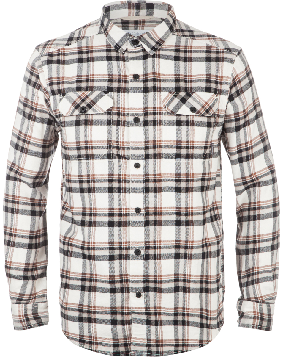 Рубашка мужская Columbia Flare Gun, цвет: бежевый, черный. 1552151-191. Размер M (46/48)1552151-191Мужская рубашка средней длины - классика бренда Columbia. Модель несомненно пригодится в путешествиях. Свободный крой не стесняет движений. Фланелевая ткань изготовлена из хлопка, который отлично пропускает воздух, приятен на ощупь и не требует дополнительного ухода. Подкладка выполнена из мягкого эластичного трикотажа. Благодаря утеплителю рубашку можно носить в холодное время года.