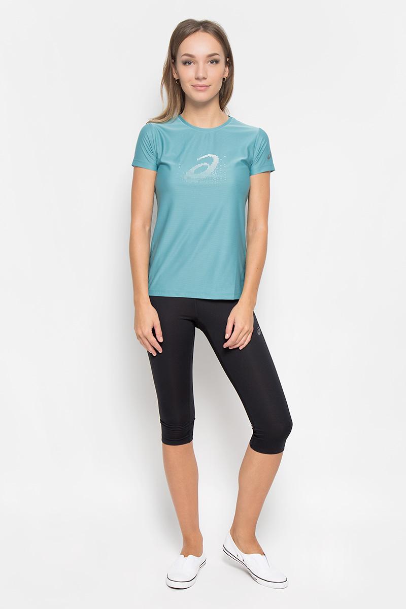 Футболка для бега женская Asics Graphic Ss Top, цвет: мятный. 134105-8148. Размер XS (40/42)134105-8148Женская футболка Asics Graphic Ss Top предназначена специально для бега. Эта легкая беговая футболка обеспечит вам безупречный комфорт и достижение высоких спортивных результатов благодаря мягкой эластичной ткани, которая отводит влагу и поддерживает тело сухим. Плоские швы не натирают кожу и обеспечивают полный комфорт.Футболка декорирована светоотражающим логотипом бренда. Максимальный комфорт и уникальный спортивный образ!