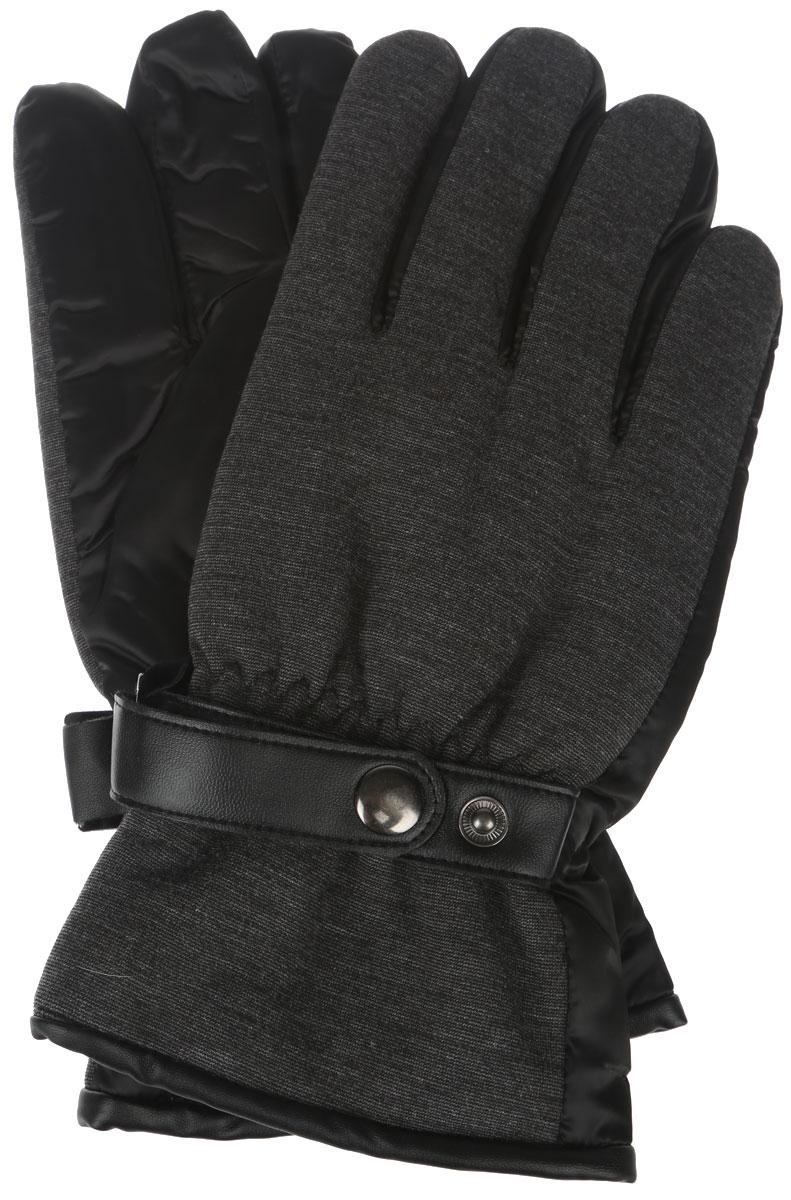 Перчатки мужские Finn Flare, цвет: темно-серый. A16-21303_202. Размер 8,5A16-21303_202Элегантные мужские перчатки Finn Flare станут великолепным дополнением вашего образа и защитят ваши руки от холода и ветра во время прогулок.Перчатки выполнены из нейлона, что позволяет им надежно сохранять тепло. Модель украшена хлястиками из искусственной кожи на кнопках. На запястьях перчатки дополнены эластичными резинками. Такие перчатки будут оригинальным завершающим штрихом в создании современного модного образа, они подчеркнут ваш изысканный вкус и станут незаменимым и практичным аксессуаром.