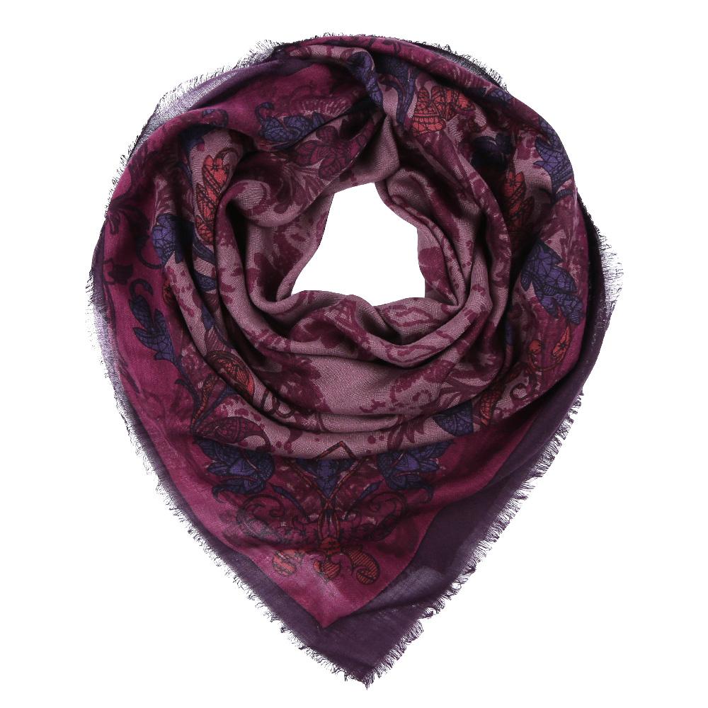 Платок Leo Ventoni, цвет: сиреневый, бордовый. YNNT1516. Размер 111 см х 111 смYNNT1516-8Стильный платок станет прекрасным дополнением к вашему образу. Выполнен из высококачественного материала и оформлен оригинальным принтом.