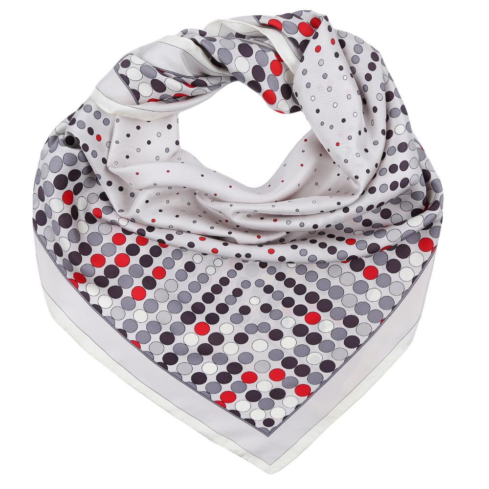 Платок Fabretti, цвет: серый. CX1617-09. Размер 90 см х 90 смCX1617-09-6Стильный платок станет прекрасным дополнением к вашему образу. Выполнен из высококачественного материала и оформлен оригинальным принтом.