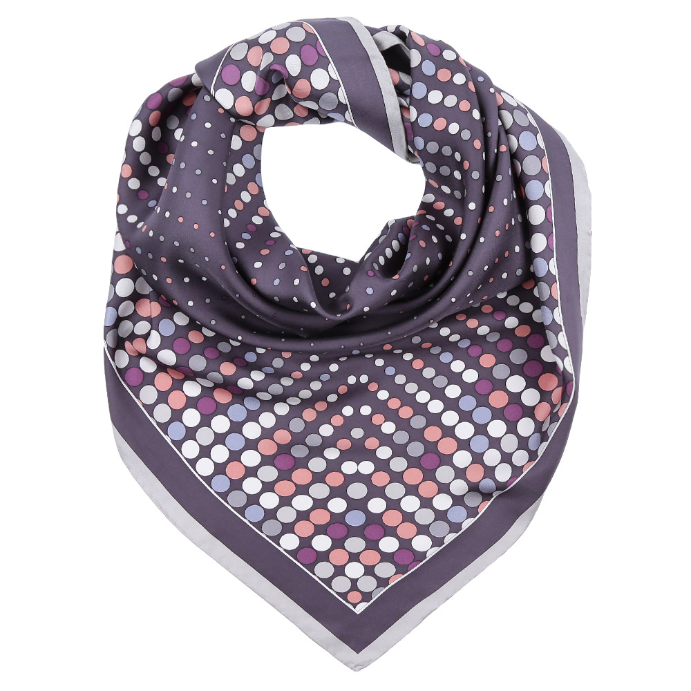Платок Fabretti, цвет: фиолетовый. CX1617-09. Размер 90 см х 90 смCX1617-09-1Стильный платок станет прекрасным дополнением к вашему образу. Выполнен из высококачественного материала и оформлен оригинальным принтом.