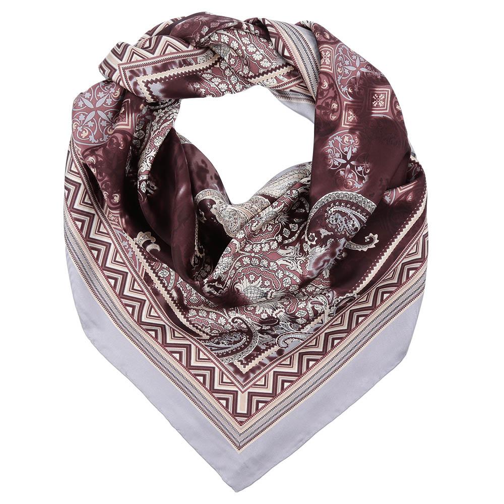 Платок Fabretti, цвет: коричневый. CX1617-07. Размер 90 см х 90 смCX1617-07-6Стильный платок станет прекрасным дополнением к вашему образу. Оформлен оригинальным принтом.