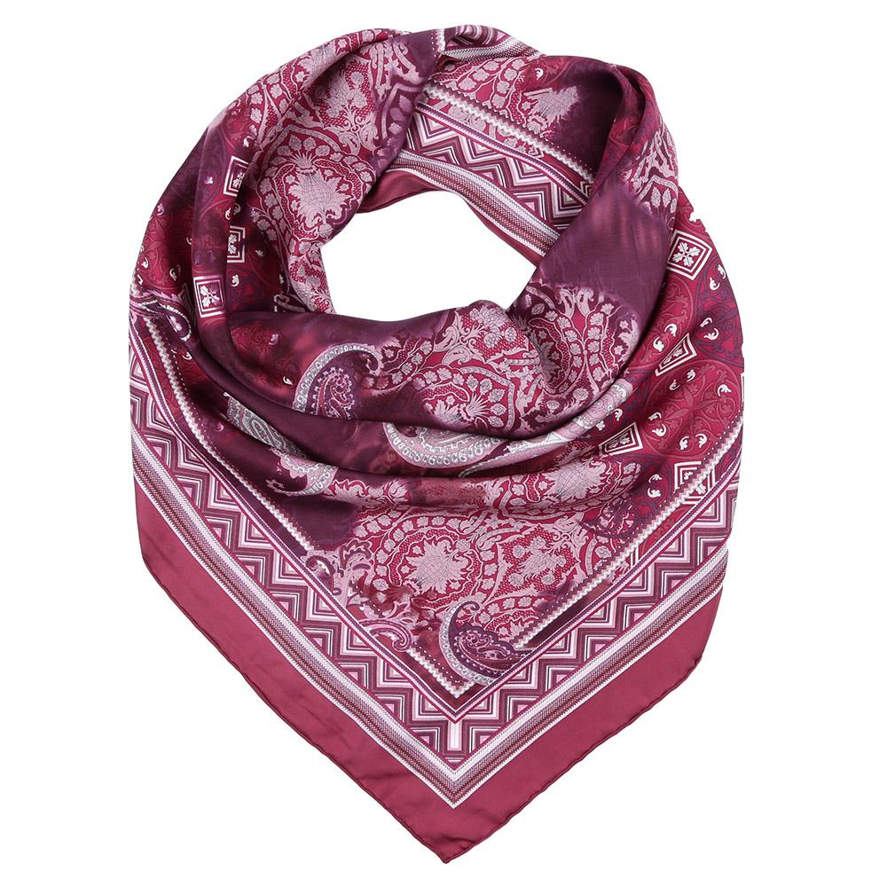 Платок Fabretti, цвет: бордовый. CX1617-07. Размер 90 см х 90 смCX1617-07-4Стильный платок станет прекрасным дополнением к вашему образу. Оформлен оригинальным принтом.