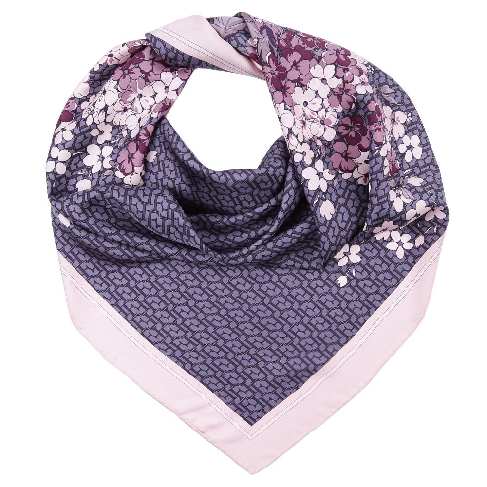 Платок Fabretti, цвет: сиреневый, розовый. CX1617-06. Размер 90 см х 90 смCX1617-06-5Стильный платок станет прекрасным дополнением к вашему образу. Оформлен оригинальным принтом.