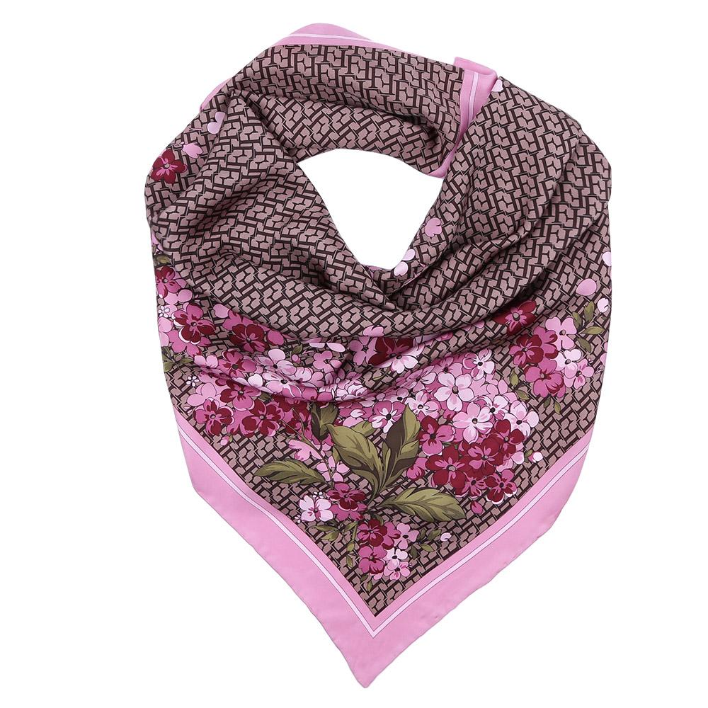 Платок Fabretti, цвет: розовый, бежевый. CX1617-06. Размер 90 см х 90 смCX1617-06-4Стильный платок станет прекрасным дополнением к вашему образу. Оформлен оригинальным принтом.