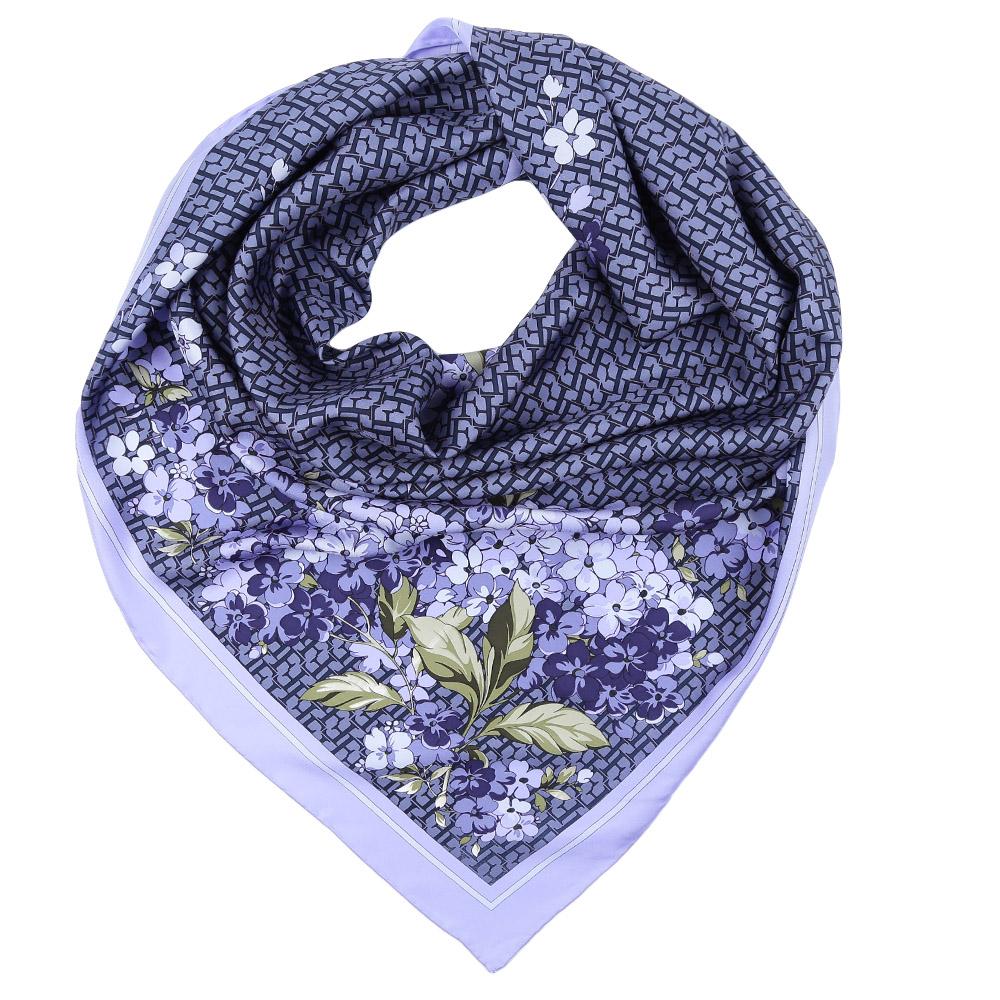 Платок Fabretti, цвет: синий, голубой. CX1617-06. Размер 90 см х 90 смCX1617-06-3Стильный платок станет прекрасным дополнением к вашему образу. Оформлен оригинальным принтом.