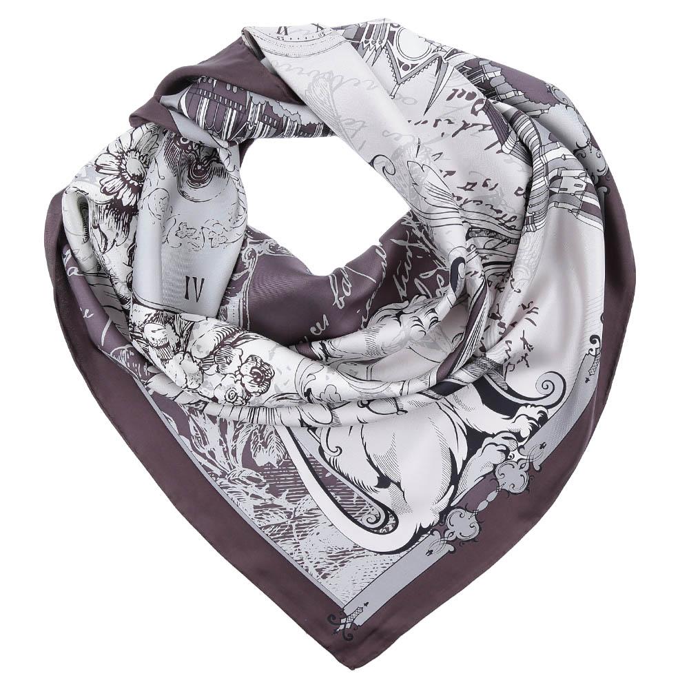 Платок Fabretti, цвет: серый. CX1617-05. Размер 90 см х 90 смCX1617-05-6Стильный платок станет прекрасным дополнением к вашему образу. Оформлен оригинальным принтом.