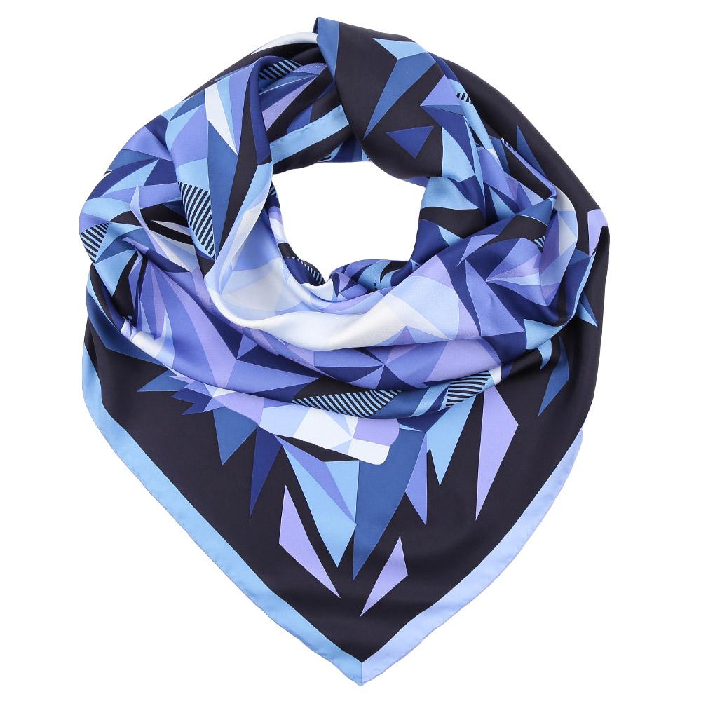 Платок Fabretti, цвет: синий, голубой. CX1617-01. Размер 90 см х 90 смCX1617-01-6Стильный платок станет прекрасным дополнением к вашему образу. Оформлен оригинальным принтом.